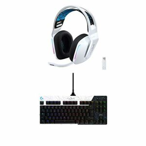 Logitech G733 K/DA Casque Gaming sans Fil Lightspeed, LIGHTSYNC RVB, Compatible avec PC/PS + Logitech G Pro K/DA Clavier Gaming Mécanique, Conception sans Pavé Numérique, LIGHTSYNC RVB