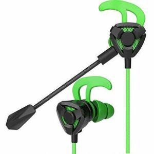 MZZYP E-Sports Gaming Headset de Jeu Portable Casque de Jeu Stéréo Noise Annulation de PC Écouteurs d'écouteurs avec Casques (Couleur: Rouge) (Color : Green)