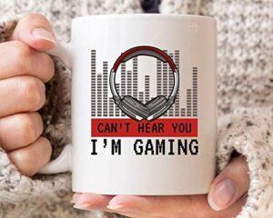 NA Ici ne Pouvez Pas Vous Que Je suis Jeu Tasse, drôle de Jeu Anniversaire Tasse de café pour Gamer Garçon Fille, Idée Mignonne Jeu Vidéo Cadeau pour Jeu