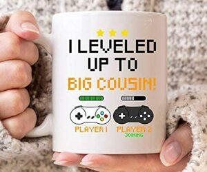 NA Je nivelée jusqu'à Grande Tasse de Cousin, de bébé de Jeu Tasse de café pour Que bientôt Big Cousins, Vidéo Jeu Cadeau pour Les garçons, Les Filles Gamer