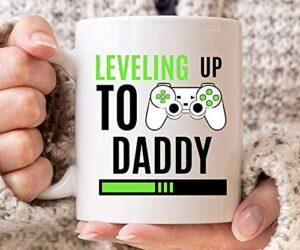 NA Nivellement jusqu'à Tasse de Papa, Jeux de bébé de Tasse de café pour Que bientôt Papa, Cadeau Mignon Jeu vidéo pour Gamer Papa, Papa Gamer