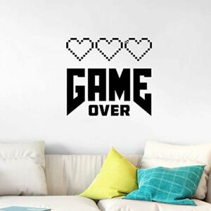 Skyinbags Autocollant Mural,Gaming Poster Gamer Wall Decal Vinyl Quote Amovible Self Adhesive Modern DIY Art Wall Murals for Home Living Room Bedroom Children Decor Sticker,110X113Cm