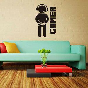 Sticker mural en vinyle pour chambre d'enfant ou salon Motif jeu vidéo