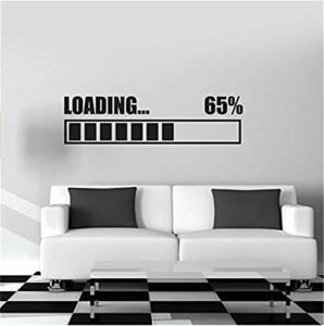 sticker mural Loading Video Game Sticker Play Game Room Decal Gaming Posters Gamer Vinyl Wall Decals Decor Mural Video Game Sticker