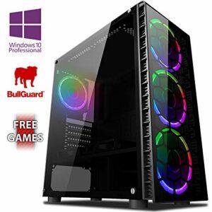 Vibox Ursa 19 PC Gamer Ordinateur avec 2 Jeux Gratuits, Windows 10 Pro OS (4,0GHz AMD Ryzen Quad-Core Processeur, Nvidia GeForce RTX 2070 Carte Graphique, 8GB DDR4 2400MHz RAM, 1TB HDD)