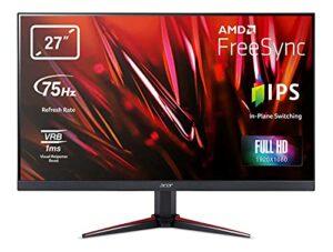Acer Nitro VG270 Moniteur de Gaming Full HD 75 Hz HDMI/DP, 60 Hz VGA, 1 ms (VRB) 2 x HDMI 1.4, VGA, HDMI/DP FreeSync