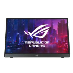 ASUS ROG XG16AHPE – Ecran PC gaming portable 15,6″ FHD – Dalle IPS – 16:9 – 144Hz – 3ms – 1920×1080 – 300cd/m² – 2x USB-C et 1x Micro HDMI – Batterie – Haut-parleurs – Compatible G-Sync