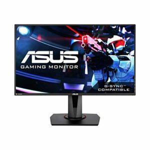 ASUS VG278Q – 27» Moniteur gaming eSport / Ecran PC – FHD (1920 x 1080) – 1ms – Jusqu'à 144Hz – FreeSync – G-sync compatible – Flicker Free et Ultra-Low Blue Light TÜV – DP/HDMI/DVI