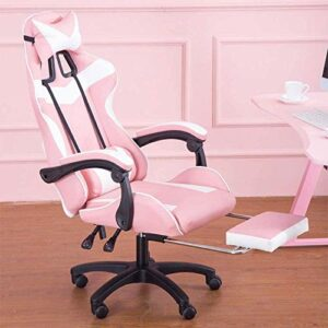 Chaise de Bureau Chaise de bureau réglable en hauteur Accoudoirs Gaming Président Repose-pieds Fauteuil de massage Jouer Jeux Regarder des vidéos (Color : Nylon Chair Legs)