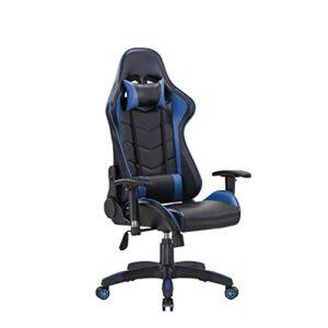 Chaise de Jeux, Fauteuil d'ordinateur Esports Ajustable, Chaise de Jeu vidéo pour Adultes de Course, Chaise inclinable à Dos Ergonomique Gaming Chair2