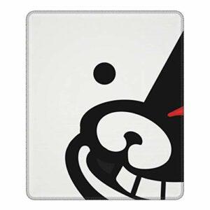 Da-NGAN-ro-n-pa M-on-ok-uma Tapis de souris de jeu avec bords cousus Base en caoutchouc antidérapant pour ordinateur de gamer, ordinateur portable, bureau 21,1 x 26,2 cm