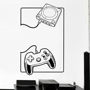 Gamer Wall Sticker Gaming Gamepad Console Joystick Joypad Vinyle Sticker Enfants Chambre Salle de Jeux Décor À La Maison Art Mural Main Picture Color