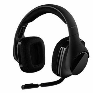 LKJG sans Fil Surround 7.1 Gaming Headset Casque sans Fil Accessoires d'ordinateurs for Les Jeux (Color : Black)