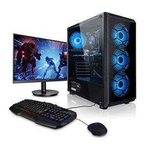 Megaport Super Méga Pack – Unité Centrale PC Gamer Complet AMD Ryzen 5 2600 6×3.40 GHz • Ecran LED 24″ • Clavier et Souris Gamer • GeForce GTX 1660 Super • 16Go • 1To • Windows 10