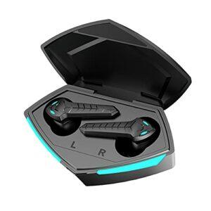 Moares P36 TWS Bluetooth Écouteurs Stéréo Gaming Écouteurs sans Fil 5.0 Bluetooth Casque Faible Latence avec Micro Casques De Jeu pour Téléphone Tablette Ordinateur Noir
