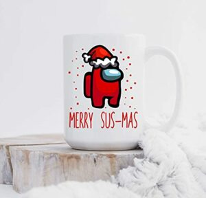 Mug-Merry Sus-Mas, Among Us, Among Us, Gamer, pour Gamer, Sus Among Us, Tasse de jeu vidéo, Mug SUS 325 ml HH1EQK