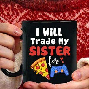 NA Gamer Pizza Sister Boys Tasses de Jeux vidéo