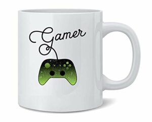 NA Im a Gamer XB Controller Jeux vidéo Tasse à café en céramique Tasse à thé Cadeau de nouveauté Amusant 11 oz