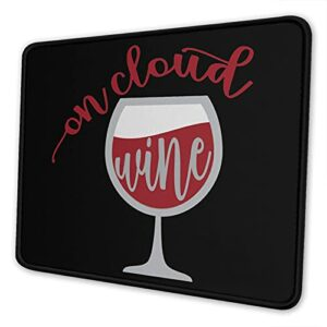 Ne s'enlève que pour le tapis de souris à vin, tapis de souris avec base antidérapante et bord cousu pour la maison, le bureau, les jeux vidéos.