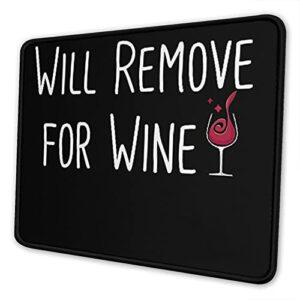 Ne s'enlèvera que pour le tapis de souris à vin, tapis de souris avec base antidérapante et bord cousu pour la maison, le bureau, les jeux vidéos.