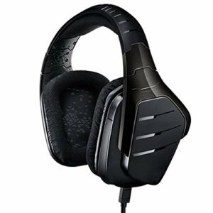 OIUYT Wired DTS Surround 7.1 Gaming Headset Casque Micro Computer Accessoires de Jeux for PC (Color : Black)