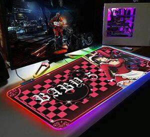 One Piece RGB Gaming Mouse Pad Gamer Ordinateur Tapis De Souris Rétro-Éclairé Mause Grand Bureau Clavier LED Tapis De Souris Style 2 39,4×19,7 po