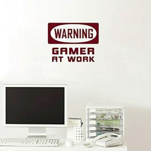 Panneau d'avertissement Gamer Decal Vinyle Murale Garçons Chambre Decal Décor Gaming Stickers Simple Décoration Amovible G29