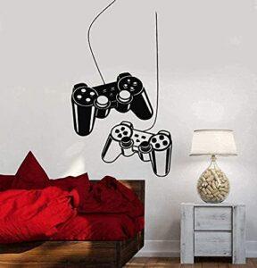 Sticker Mural Vinyle Décoration Murale Gamepad Gamer Gamer Salle De Jeux Art Enfants Tatouage Teen Chambre 85X69Cm