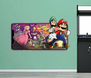 Stickers muraux brisé 3d autocollant art vinyle sticker mural jeu vidéo 3d autocollant décoration murale vinyle enfants