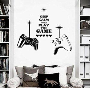 Stickers Muraux Gaming Wall Art Sticker Mural Sticker Garçons Chambre Jeux Vidéo Vinyle Amovible Décor 58 * 67 Cm