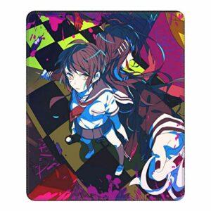 Tapis de souris Da-n-ga-nron-pa – Avec bords cousus – Base en caoutchouc antidérapant – Pour ordinateur de gamer, ordinateur portable, bureau – 20 x 24 cm