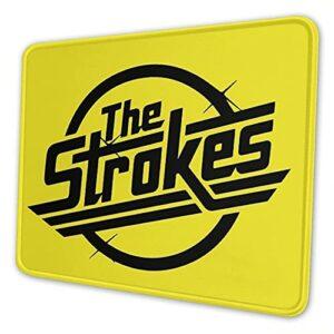 Tapis de souris The Strokes avec base antidérapante et bord cousu pour la maison, le bureau, les jeux vidéos.