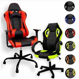 ZStyle Fauteuil de gaming pour bureau, jeux vidéo, inclinable, rembourré, ergonomique, bureau, ordinateur Playstation RTX GTX (RTX, noir)