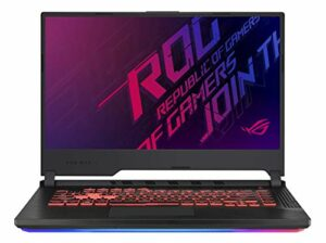Asus ROG STRIXGG531GTAL041T PC Portable Gamer 15″ FHD Dalle 12Hz (Intel Core i79750H, RAM 16Go DDR4, HDD1 TB5 SSH8G + 256Go PCIE, Windows 10) Clavier AZERTY Français Ancien Modèle