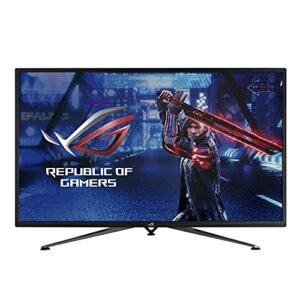 ASUS ROG XG43UQ – Ecran PC gaming 43″ 4K – Dalle VA – 144Hz – 3840×2160 -1000cd/m²- Display Port, 2x HDMI 2.1, 2x HDMI2.0 et 2x USB – FreeSync Premium Pro – HDR 10 – Haut-parleurs 2x10W – PS5 – XBOX
