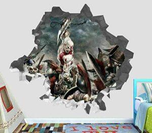 Autocollant mural 3D jeu vidéo personnalisé vinyle stickers muraux peler et coller papier peint Art impression affiche décor 60×90 cm décoration de la maison