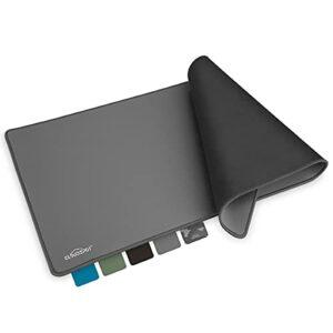 CloudSpot I Gaming Tapis de Souris XXL 900 x 400 mm – Antidérapant – Bords sans Franges – Sous-main de Bureau – Surface premium pour Améliorer la Vitesse (Gris)