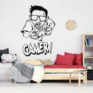 Gamer Decal Contrôleur De Jeu Vidéo Autocollant Jouer Decal Gaming Affiches Gamer Vinyle Stickers Décor Mural Jeu Vidéo Wall Sticker 49x85cm