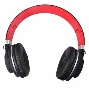 Kanqingqing Casque de Jeu ABS Pliable Bluetooth sans Fil Subwoofer Gaming avec Microphone Casque for Les Jeux d'ordinateur pour PC, Ordinateur Portable, Jeu Vidéo (Color : Black+Red, Size : M)