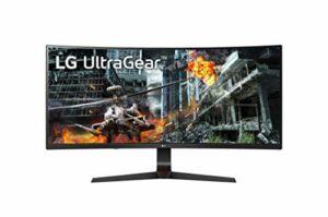 LG UltraGear 34GL750-B, Moniteur incurvé Gaming 21:9 IPS FHD 34» (2560×1080, 1ms, 144Hz, sRGB 99%, HDMI, Display Port, HDR, Nvidia Gsync compatible, AMD FreeSync, Ajustable Hauteur)