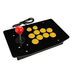 Pingping ZZPING 10 Bottons zéro délai Acrylique câblé USB Arcade Joystick Combattant Le contrôleur de Jeu de Jeu de Jeu de Jeu Jeu vidéo pour PC Ordinateurs de Bureau ZhuZhuBao (Color : Yellow)