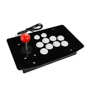Pingping ZZPING 2020 Nouveau Joystick Arcade USB Combattre Stick Gaming Controller Gamepad Jeu vidéo pour PC Ordinateurs de Bureau 6 Couleurs pour Choisir ZhuZhuBao (Color : White)