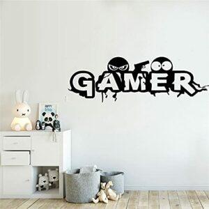 Sticker mural Gamer Xbox Eat Sleep Game Controller Stickers muraux de jeu vidéo personnalisés pour enfants chambre vinyle Stickers muraux 49x85cm
