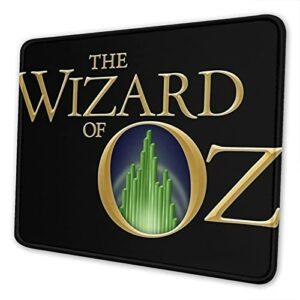 Tapis de souris Le Magicien d'Oz avec base antidérapante et bord cousu pour la maison, le bureau, les jeux vidéos.