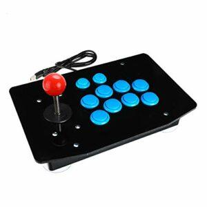 Demacia Musen Joystick Arcade Joystick Combattant Gamepad Contrôleur de Jeu Gamepad Jeu vidéo adapté aux Ordinateurs de Bureau PC MS (Color : Blue)