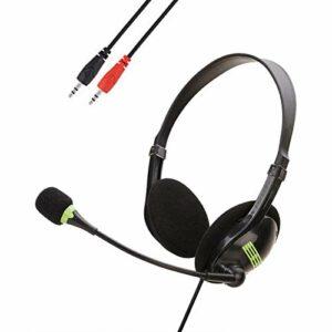 Seasons Shop Casque USB avec microphone à réduction de bruit, casque de gaming, casque de jeu avec microphone, LED Light Bass Surround avec microphone anti-bruit pour ordinateur