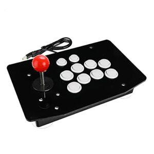 WJL Joystick Arcade USB Combattre Stick Gaming Controller Gamepad Jeu vidéo pour PC Ordinateurs de Bureau Lili (Color : White)