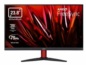 Acer Nitro KG242Y Moniteur de Gaming 23,8″ Full HD 75 Hz, 1 ms (VRB) 2 x HDMI 1.4, VGA, HDMI FreeSync Noir