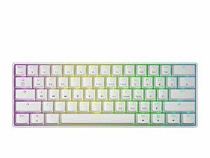 GK61 Clavier de jeu mécanique – 61 touches RVB rétroéclairé LED pour PC/Mac Gamer
