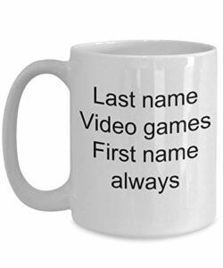 Jeu vidéo Mug à café Gamers Professional PC – Prénom Toujours Nom Console de Jeu vidéo Master Race